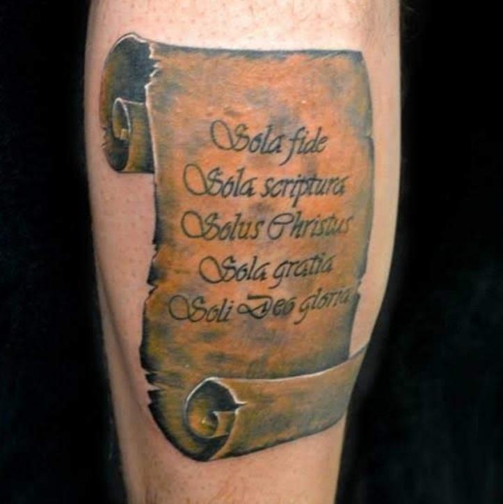 Gratia sola sola tattoo fide Ephesians 2:8